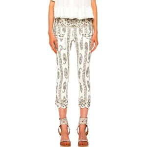ISABEL MARANT RUNWAY BARIO CROPPED STUDDED JEANS
